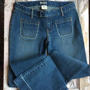 Distressed Denim Taunt jeans